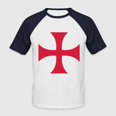 cross_of_the_templars - T-shirt baseball manches courtes Homme