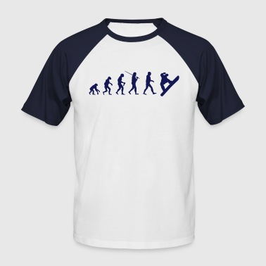 Snowboard Evolution - Männer Baseball-T-Shirt
