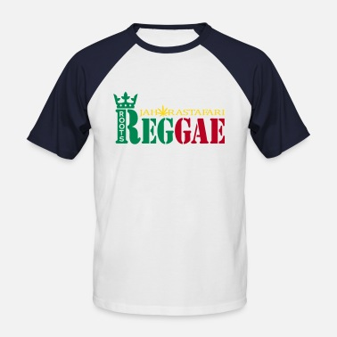 Jah roots reggae jah rastafari - Men's Baseball T-Shirt