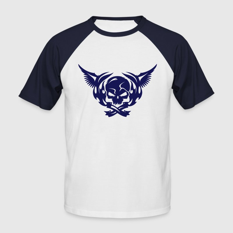 Skull and wings  - Men's Baseball T-Shirt