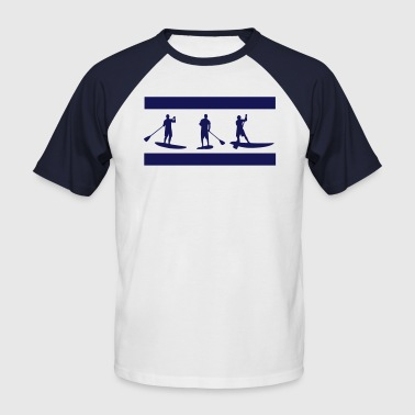 Paddle Surf Sup, de pie remo, surf, surf, Supen, stand up paddle surf - Camiseta béisbol manga corta hombre