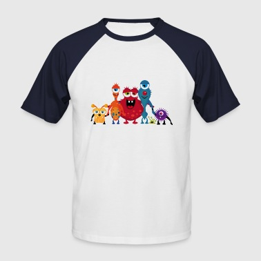 A colorful monsters family  - Men's Baseball T-Shirt