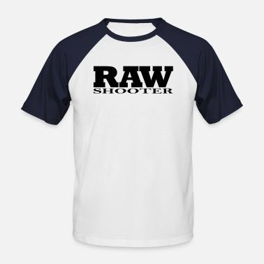 Shoot Raw RAW Shooter - Männer Baseball-T-Shirt