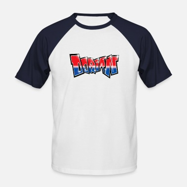 Dorian Dorian Blue Red Graffiti - Men's Baseball T-Shirt