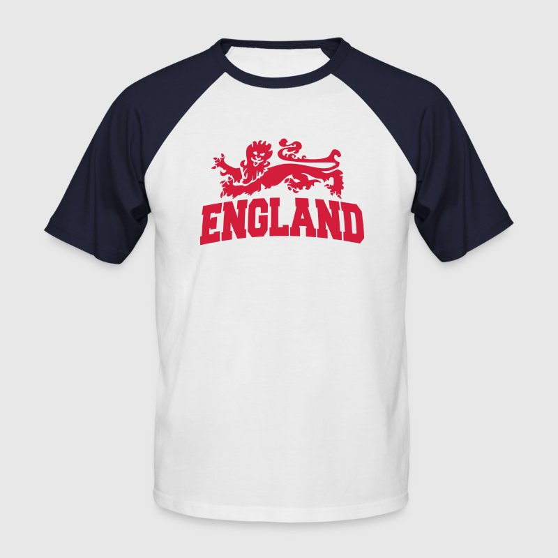 england with lion - Men's Baseball T-Shirt
