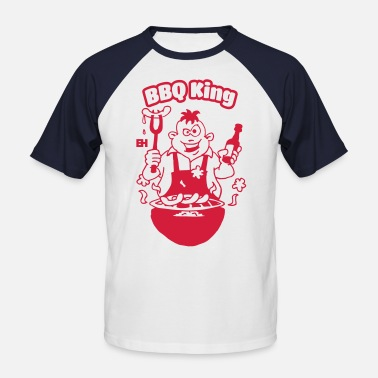 Reds Bbq BBQ King - Men's Baseball T-Shirt