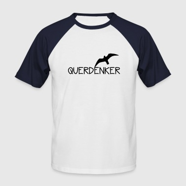 Free Thinker Lateral thinker gift - Men's Baseball T-Shirt