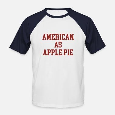 Pietro American as Apple Pie - Men's Baseball T-Shirt