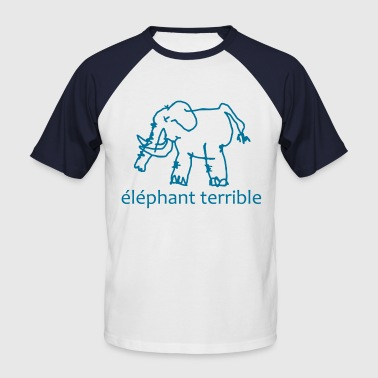 Éléphant Terrible - Men's Baseball T-Shirt