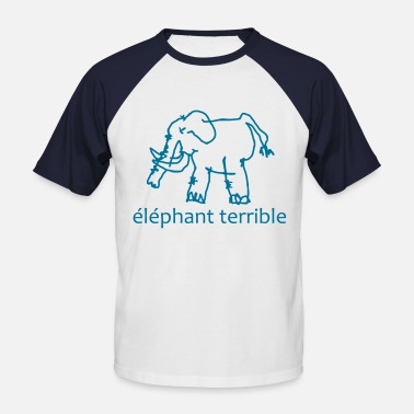 Terrible Éléphant Terrible - Men's Baseball T-Shirt