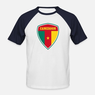 Douala Cameroon Coat of Arms / Gift Flag Cameroon - Men's Baseball T-Shirt