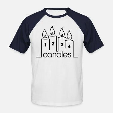 Two Ronnies Four Candles - Men's Baseball T-Shirt