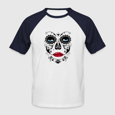 Sugar Skull Makeup - Men's Baseball T-Shirt
