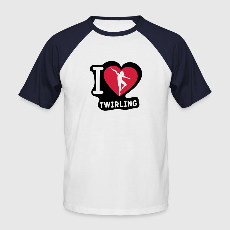 i love coeur sport twirling baton2 - T-shirt baseball manches courtes Homme