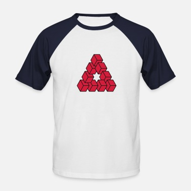 Impossible Illusion Optical illusion - Impossible figure - Men's Baseball T-Shirt