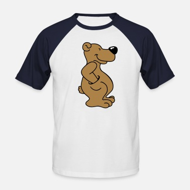 Brown Nose Brown bear with pocket - Men's Baseball T-Shirt