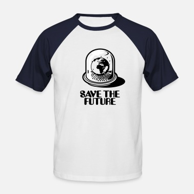Untergang Weltkugel / Snow Globe - Save The Future_2c - Männer Baseball-T-Shirt