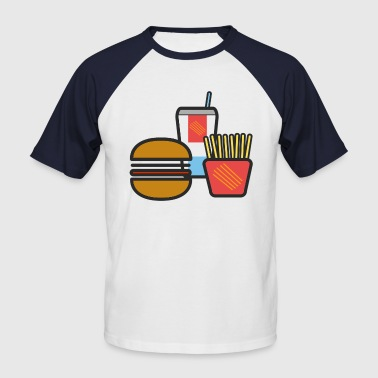 Fast Food from McDoof - Men's Baseball T-Shirt