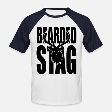 Bearded Stag The BEARDED Stag! - Men's Baseball T-Shirt