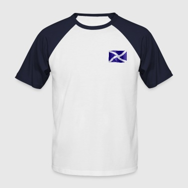 Scottish Saltire Flag with Celtic Thistle - Men's Baseball T-Shirt