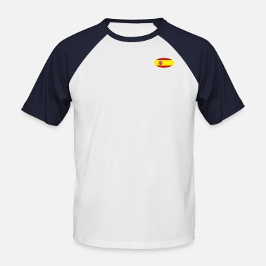 Spain Flag Logo - Men's Baseball T-Shirt