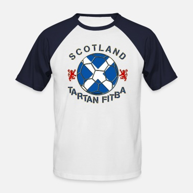 Tartan Football tartan football scotland saltire - Men's Baseball T-Shirt