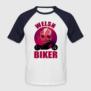 Welsh Biker Skull Chop - Men's Baseball T-Shirt