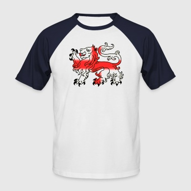 St Georges Cross English Lion Passant with St George's Cross - Men's Baseball T-Shirt