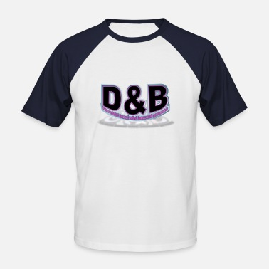 D B D&B Logo 3 - Men's Baseball T-Shirt