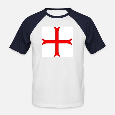 Knights cross of the Templars - Men's Baseball T-Shirt