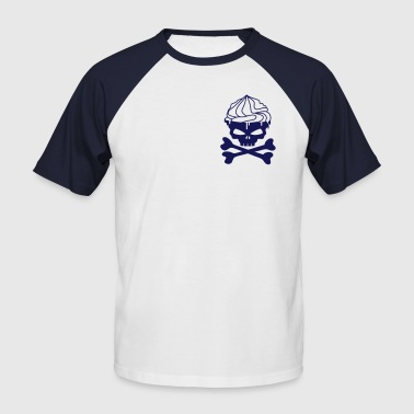A skull cupcakes with whipped cream - Men's Baseball T-Shirt