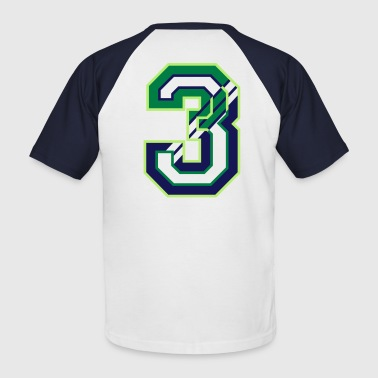 The Number Three The Number Three  - Men's Baseball T-Shirt