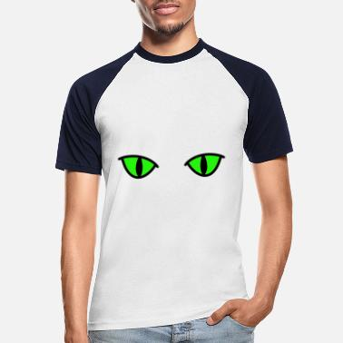 Cat Eye Cat eyes fantasy eyes cat - Men's Baseball T-Shirt