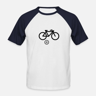 Neon A bicycle made ​​of neon tubes - Men's Baseball T-Shirt