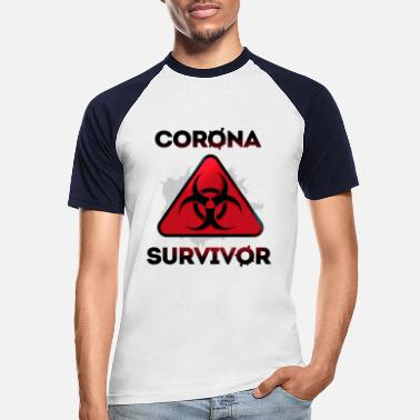 Epidemic Corona Virus Epidemic Survivor - Men's Baseball T-Shirt
