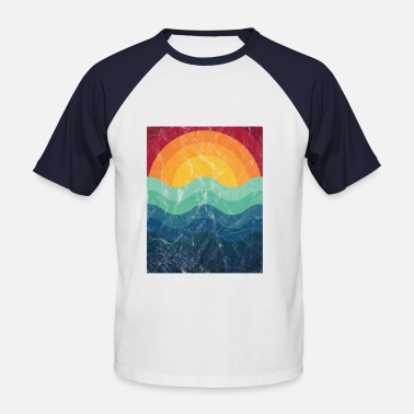 Summerfeeling Surfer Wave Retro Vintage Gift - Men's Baseball T-Shirt