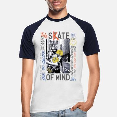 Skate SmileyWorld Skate Of Mind - T-shirt baseball Homme