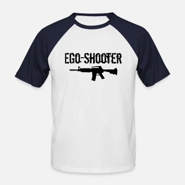 Ego Shooter Ego Shooter lettering - Men's Baseball T-Shirt