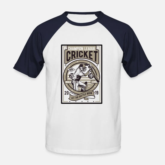 Sports T-shirts - Cricket Sport - Baseball T-shirt mænd hvid/marineblå