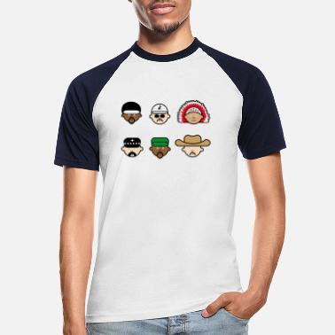 Gay Pride People from the village - Men's Baseball T-Shirt