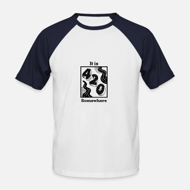 5ed72d8095536a Weed Weed Stoner Cannabis 420 Smoke Joint Jey - Mannen baseball T-Shirt