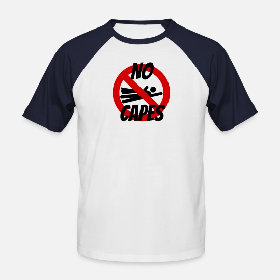 Logo T-Shirts - No capes - Men's Baseball T-Shirt white/navy