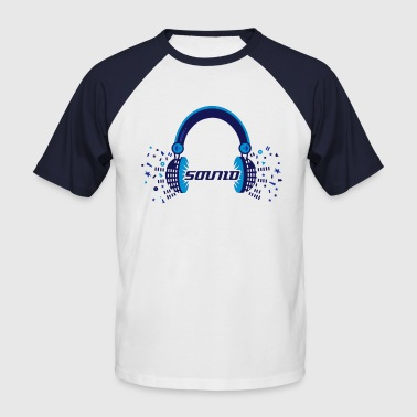 Headphones Sound Design - Men's Baseball T-Shirt
