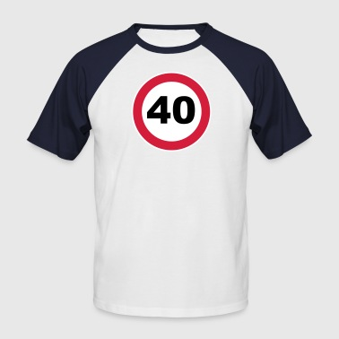40Th birthday 40 round birthday 3 c. - Men's Baseball T-Shirt