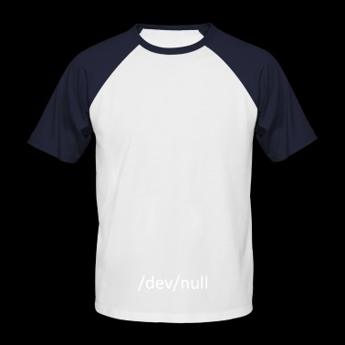 / Dev / null - T-shirt baseball manches courtes Homme