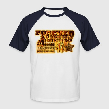 forever country music texas sound real cowboy - T-shirt baseball manches courtes Homme