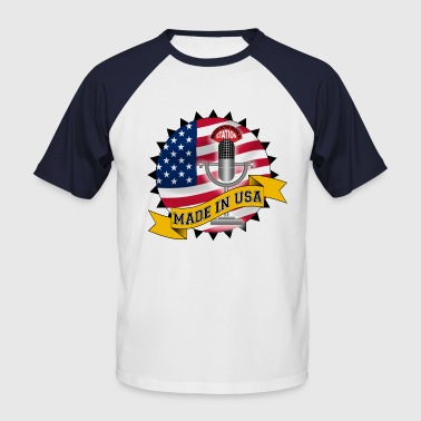 Made in USA - T-shirt baseball manches courtes Homme