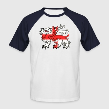 English Lion Passant with St George's Cross - Men's Baseball T-Shirt