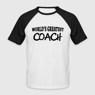 World's greatest Coach - Maglia da baseball a manica corta da uomo