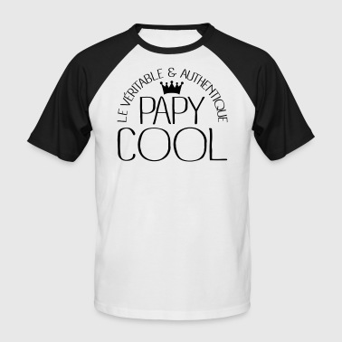 Papy Cool - T-shirt baseball manches courtes Homme